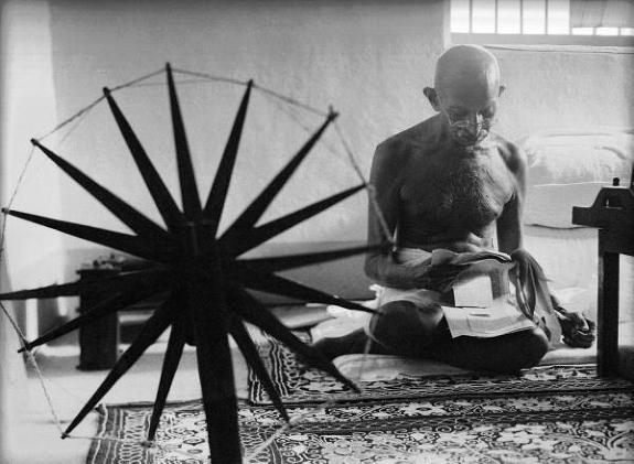 gandhi spinning bourke white