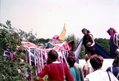 The Rainbow Dragon at Greenham Common, 1983