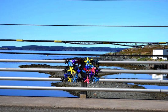 Twillingate's Old Manolis and The Sea installation
